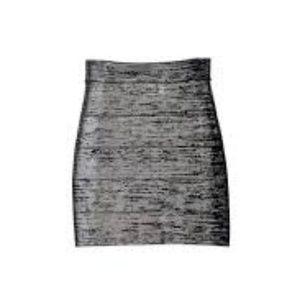 BCBG Skirts - BCBG bandage skirt - silver